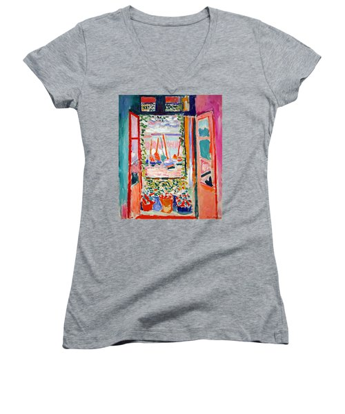 Matisse's Open Window At Collioure Women's V-Neck (Athletic Fit)