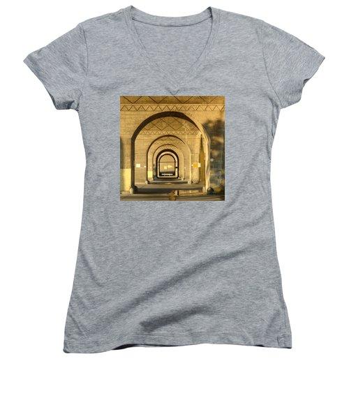 Women's V-Neck T-Shirt (Junior Cut) featuring the photograph Matryoska by Joseph Skompski