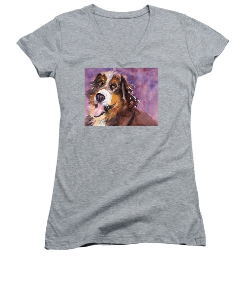 May The Mountain Dog Women's V-Neck (Athletic Fit)
