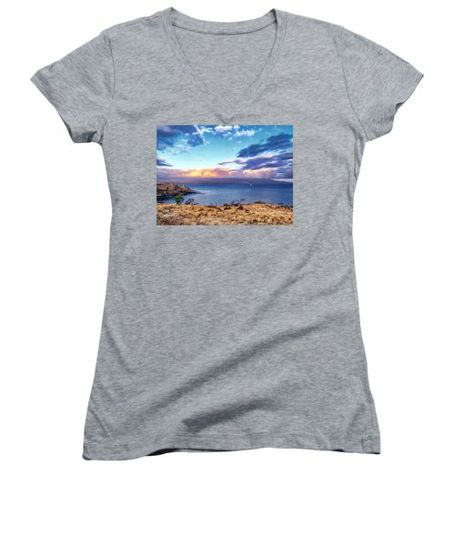 Mcgregor Point 1 Women's V-Neck T-Shirt (Junior Cut) by Dawn Eshelman