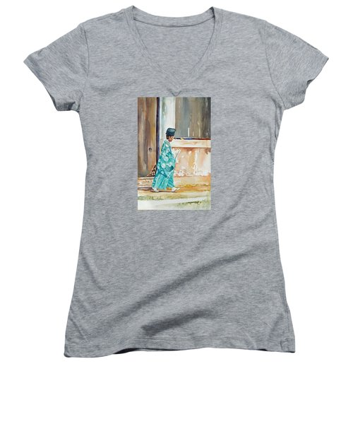 Meditation  Women's V-Neck T-Shirt