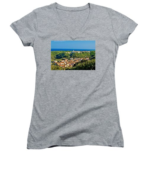 Mediterranean Town Of Susak Croatia Women's V-Neck T-Shirt
