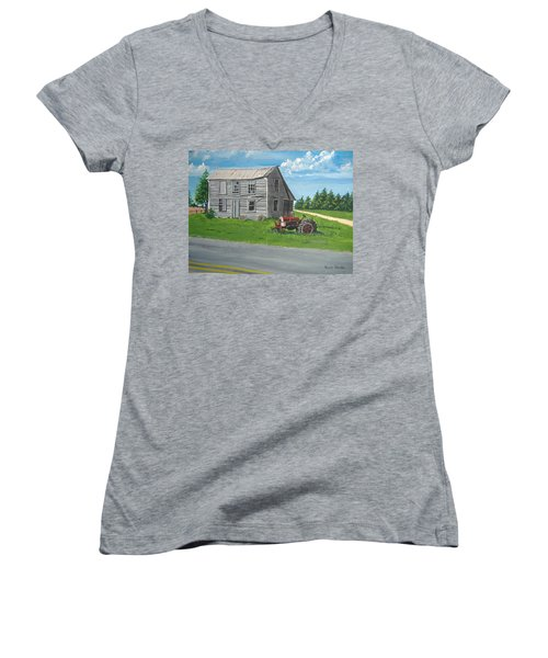 Memories... Women's V-Neck T-Shirt (Junior Cut) by Norm Starks