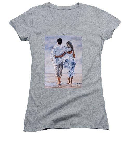 Memories Of Love Women's V-Neck T-Shirt (Junior Cut) by Emerico Imre Toth
