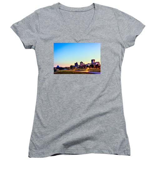 Memphis Morning - Bluff City - Tennessee Women's V-Neck (Athletic Fit)