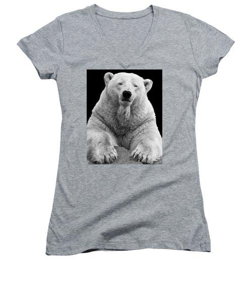 Mercedes The Polar Bear Women's V-Neck