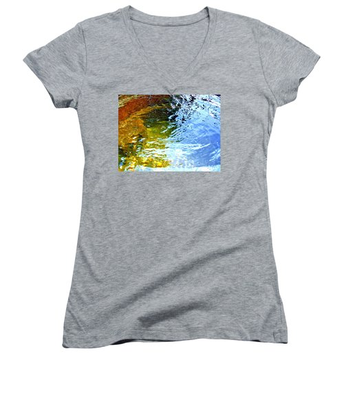 Mermaids Den Women's V-Neck T-Shirt (Junior Cut) by Deborah Moen