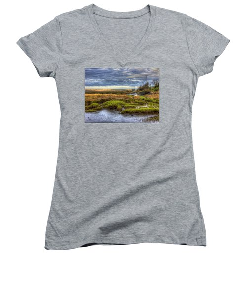 Merrimack River Marsh Women's V-Neck