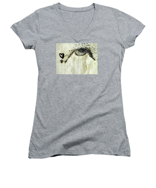 Message From An Aspen Women's V-Neck T-Shirt (Junior Cut) by Lanita Williams