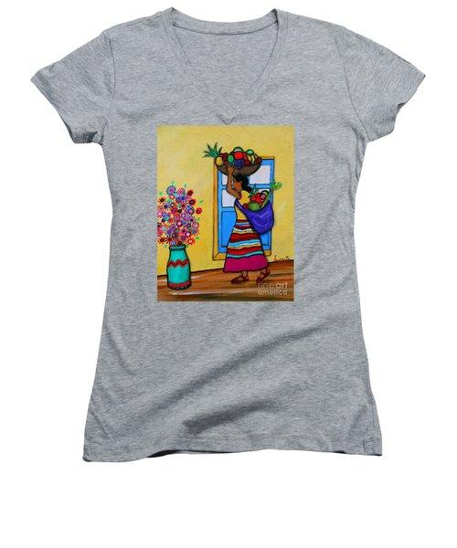 Mexican Street Vendor Women's V-Neck
