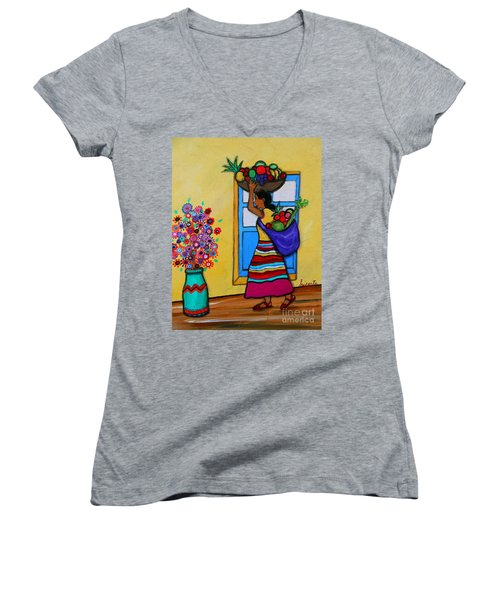 Mexican Street Vendor Women's V-Neck