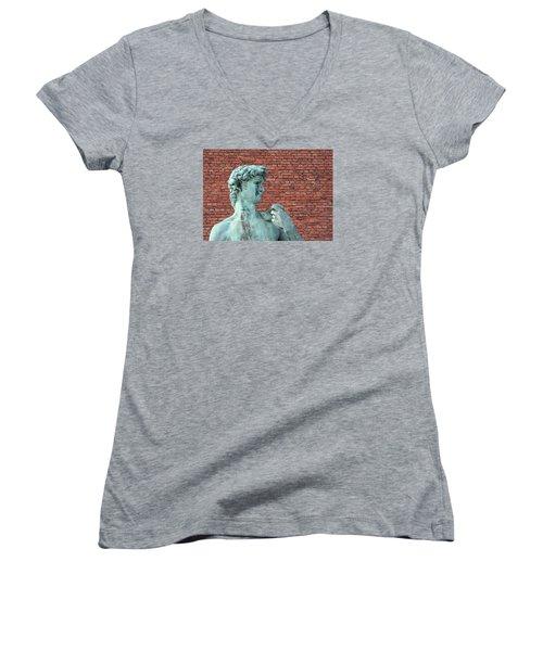 Michelangelos David Women's V-Neck