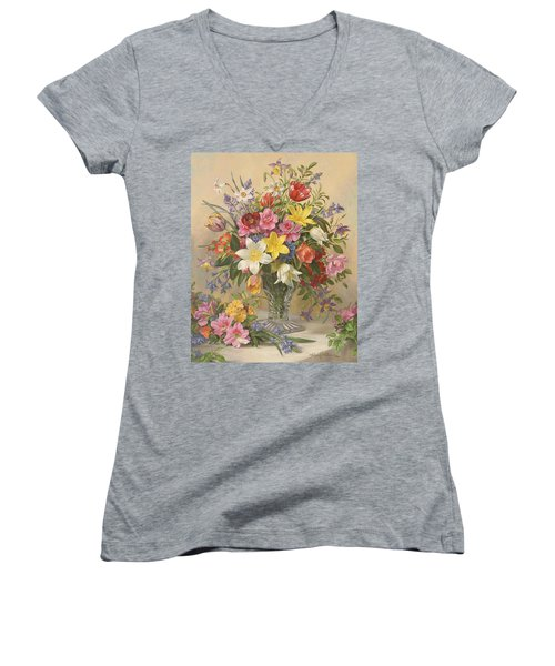 Mid Spring Glory Women's V-Neck (Athletic Fit)
