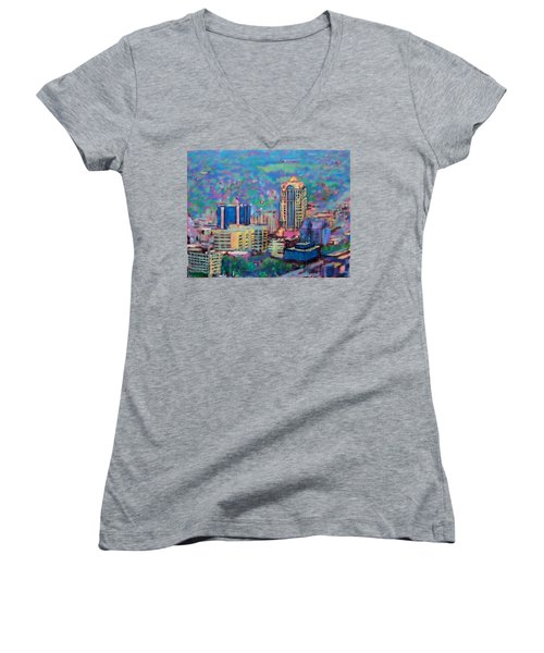 Mill Mountain View Women's V-Neck T-Shirt