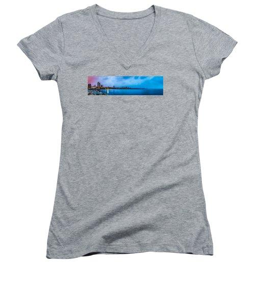 Milwaukee Skyline - Version 2 Women's V-Neck