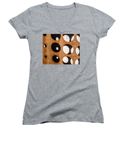 Women's V-Neck T-Shirt (Junior Cut) featuring the photograph Mind - Contemplation by Steven Milner