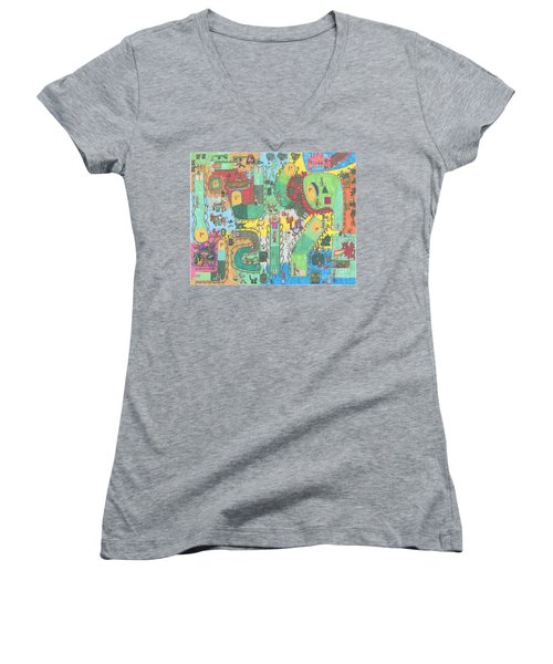 Miniature Golf Women's V-Neck (Athletic Fit)