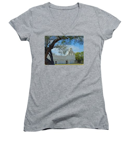 Mission San Juan Women's V-Neck T-Shirt