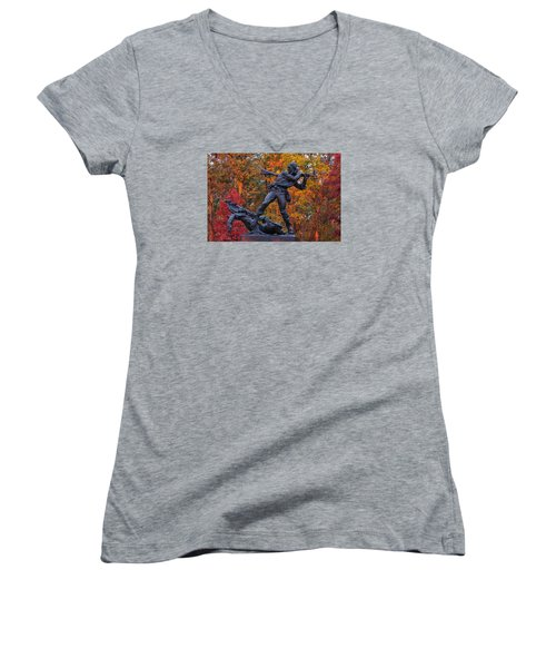 Mississippi At Gettysburg - The Rage Of Battle No. 1 Women's V-Neck (Athletic Fit)