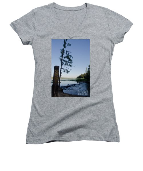 Mississippi Headwaters Women's V-Neck (Athletic Fit)