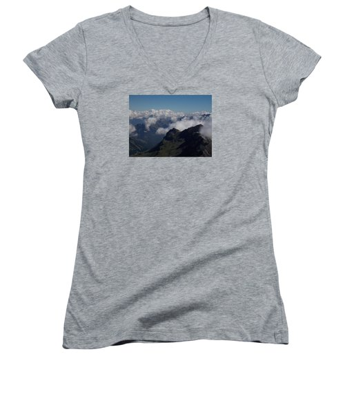 Mist From The Schilthorn Women's V-Neck (Athletic Fit)