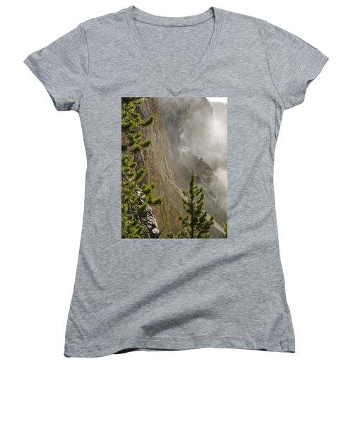 Misty Canyon  Women's V-Neck T-Shirt