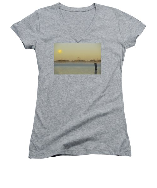 Misty Lake Women's V-Neck T-Shirt