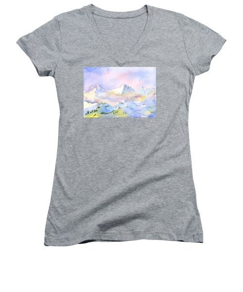 Misty Mountain Women's V-Neck (Athletic Fit)