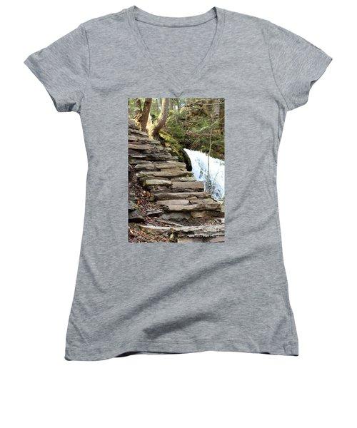 Mohawk Falls Steps Women's V-Neck T-Shirt
