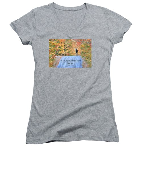 Moments That Take Our Breath Away Women's V-Neck (Athletic Fit)