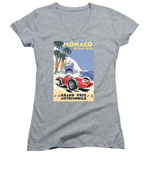 Monaco Grand Prix 1958 Women's V-Neck