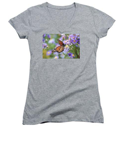 Monarch Butterfly 3 Women's V-Neck T-Shirt