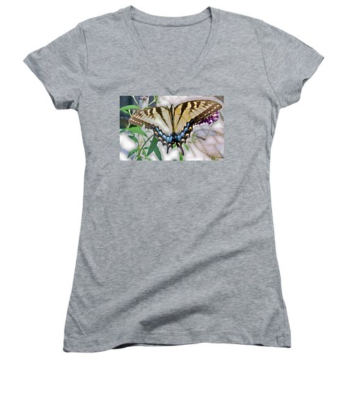Monarch Majesty Women's V-Neck T-Shirt (Junior Cut) by Judith Morris