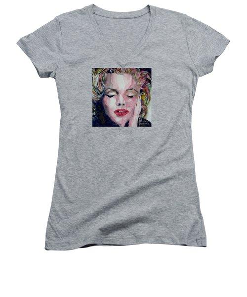 Monroe No 6 Women's V-Neck T-Shirt (Junior Cut)