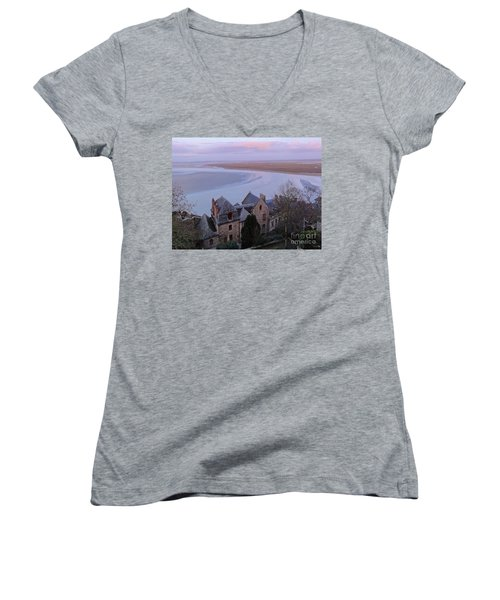 Mont St Michel Tower View Women's V-Neck