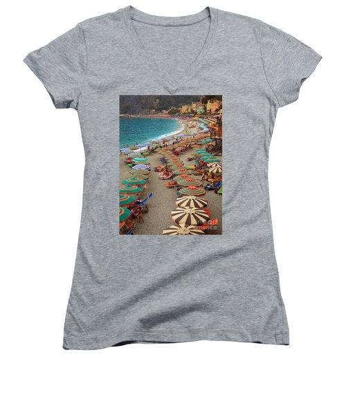 Monterosso Beach Women's V-Neck
