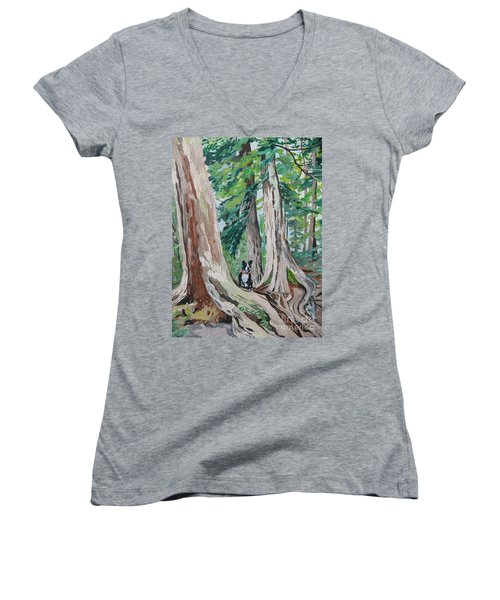 Monty's Travels Women's V-Neck