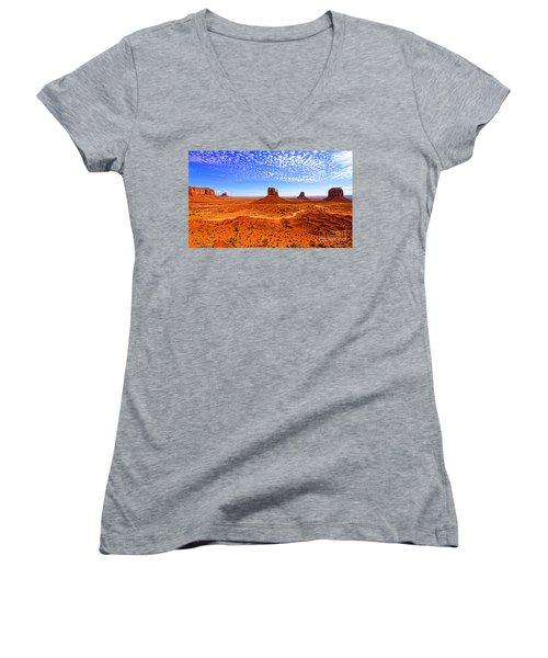 Monument Valley Women's V-Neck T-Shirt (Junior Cut) by Jason Abando