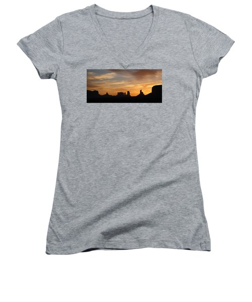 Monument Valley Sunrise Women's V-Neck