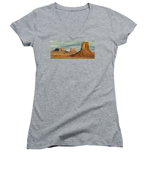 Monumental Women's V-Neck T-Shirt (Junior Cut) by Jeff Kolker