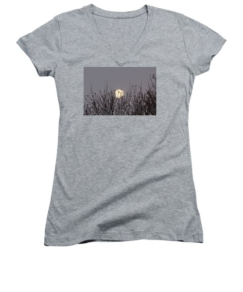 Moon Fall Women's V-Neck (Athletic Fit)