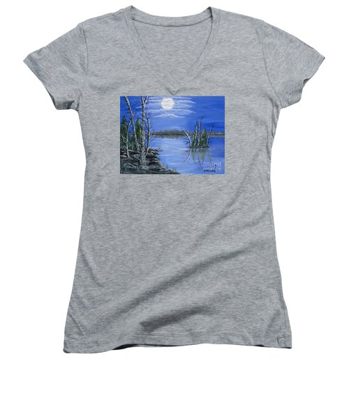 Moonlight Mist Women's V-Neck T-Shirt