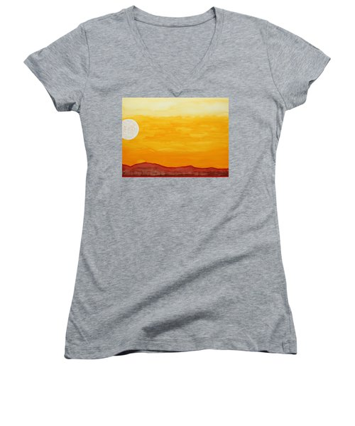 Moonshine Original Painting Sold Women's V-Neck T-Shirt