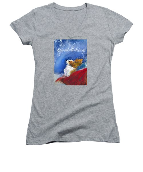 Moonstruck Holiday Card Women's V-Neck (Athletic Fit)