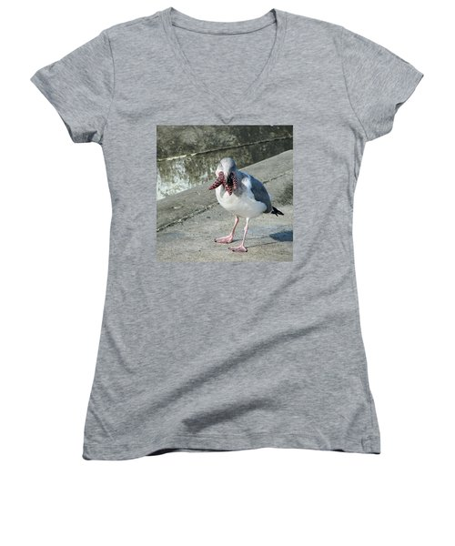 More Than He Can Chew 2 Women's V-Neck (Athletic Fit)