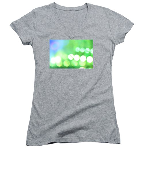 Women's V-Neck T-Shirt (Junior Cut) featuring the photograph Morning Dew by Dazzle Zazz