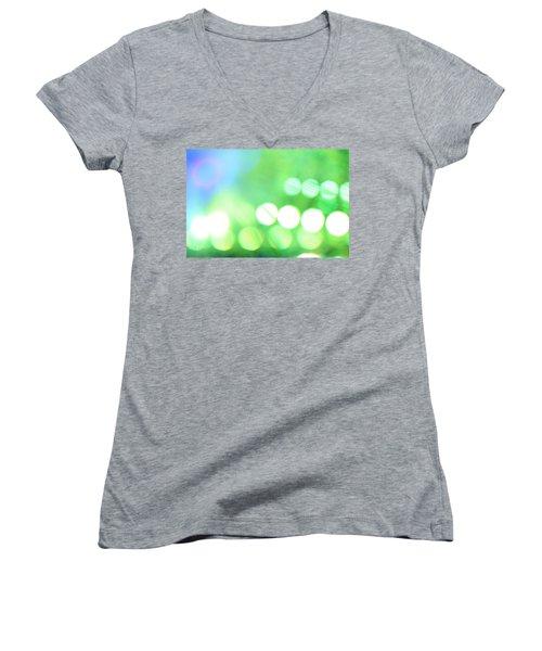 Morning Dew Women's V-Neck T-Shirt (Junior Cut) by Dazzle Zazz