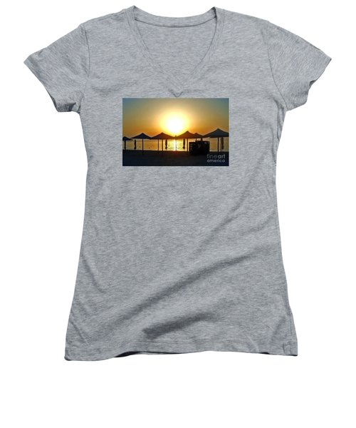 Morning In Greece Women's V-Neck (Athletic Fit)