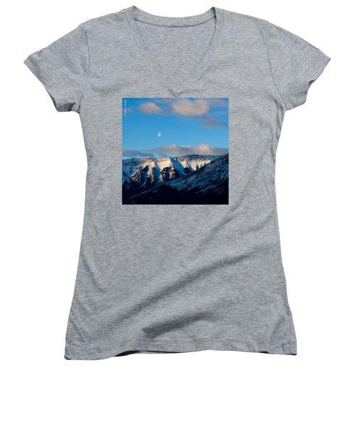 Morning In Mountains Women's V-Neck