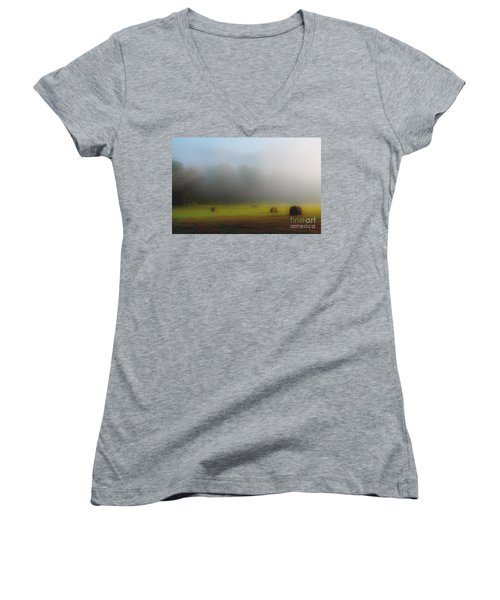 Morning In The Cove Women's V-Neck (Athletic Fit)